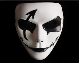 Wholesale Ghost Painting - 2016 New Trot Ghost Mask Hand-painted Halloween Party Masks Hip-hop Dancers Cool Cosplay mask 10Piece 1Lot