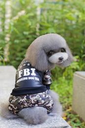 Wholesale Name Brand Winter Coats - A02 dog warm winter clothes FBI Nylon Taffta Clothes Winter Dog Jumpsuit Name Brand Pet Dog Clothing Free Shipping