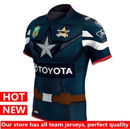 Wholesale Shirt Hero - Hot sales 17 18 Hero version North Queensland Cowboys 2017 Marvel Captain America NRL jersey New Zealand Rugby Jerseys Australia shirt S-3XL