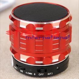 Wholesale Steel Catheter - 50 pieces universal Portable Mini Bluetooth Speakers Metal Steel Wireless Smart HandsFree Speaker