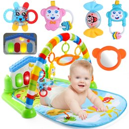 Wholesale Baby Activity Gym Mats - Wholesale- 3 in 1 Newborn Baby Multifunction Play Mat Music Piano Fitness Gym Play Activity Mats For Kids Children Gift Toys