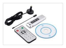Wholesale Dvb T Pc - Free Shipping New 1 pcs USB 2.0 DVB-T Digital TV Receiver HDTV Tuner Dongle Stick Antenna IR Remote Free   hot selling