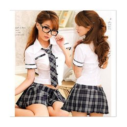 Wholesale Sexiest Outfit Japan - Wholesale-Sexy Lady Japan High School Girl Dress Uniform Women Adult Costume Full Outfit Free Shipping