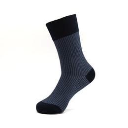 Wholesale Socks Bacterial - Wholesale-Men mesh casual business crew cotton dark navy socks comfortable durable anti bacterial wicks moisture reinforce seasons long