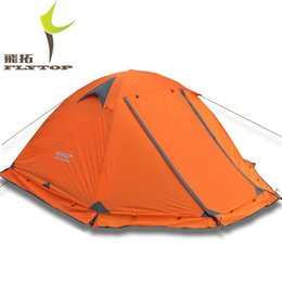 Wholesale Topwind Plus - Wholesale-Quality Flytop double layer 2 person 4 season aluminum rod professional outdoor camping tent Topwind 2 PLUS with snow skirt
