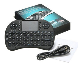 Wholesale multi media keyboards - PC Wireless Keyboard rii i8 keyboards Fly Air Mouse Multi-Media Remote Control Touchpad Handheld for TV BOX Android