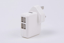Wholesale Ipad Uk Plug - 4 Port USB AC power Adapter 5V 2A US EU UK AU Plug Wall travel charger for iPhone 4 4S iPad 2 3 mp3 mp4 GPS