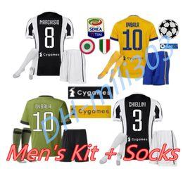 Wholesale top green soccer jerseys - Top quality 2017 2018 Juventus HIGUAIN Soccer Jersey kit 17 18 DYBALA MARCHISIO BONUCCI MANDZUKIC MARCHISIO juve football shirt uniform