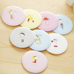 Wholesale Small Round Mirrors Wholesale - Small Round 150 Styles Cute Cartoon Compact Mirrors Hiking Easy Makeup Mirrors Portable Pocket Cosmetic Mirror