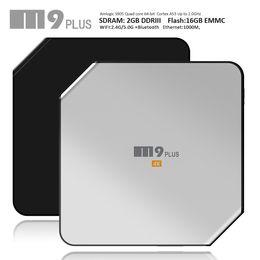Wholesale Quad Band Wifi Dual - android ott tv box M9 Plus Android5.1 quad core Amlogic S905 2GB+16GB Bluetooth4.0 5GHz dual band wifi smart media tv boxes
