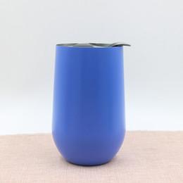 Canada Nouvelles tasses 16 oz verres à vin 304 en acier inoxydable isolé sous vide tasses gobelet 16 oz extérieur mugs de voyage Galss de vin avec couvercles Offre