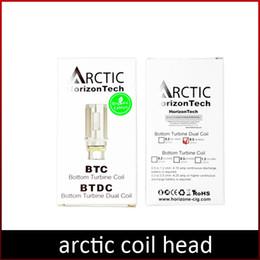 Canada Réservoir arctique de haute qualité de tête de bobine arctique coilSub Ohm atomiseur BDTC bobines remplaçable réservoir d'atomiseur arctique pour la cigarette électronique DHL gratuit Offre
