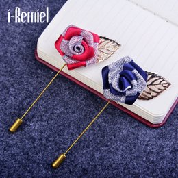 Wholesale Rosette Brooch - 2017 Broche Brooches For Trendy New Hot Suit Suits Men 's Cloth Rosette Brooch Word Hand Sweater Coat Shawl Buckle Accessories