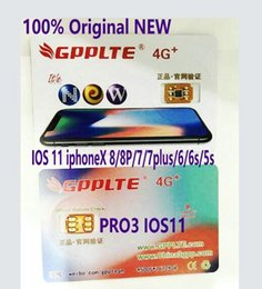 Wholesale Unlocked Softbank - Plug n play upgrade GPPLTE Pro3 unlock ios 11.1 US Sprint T-MOBILE iphone 7plus i7 6s plus, 6 ,5, 5S AU softbank 4G wcdma rsim12 networking