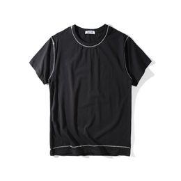 Wholesale T Shirt Chain - 2017 summer fashion brand tag clothing giv t-shirt metal chain tshirt cotton t shirt cotton black tee tops