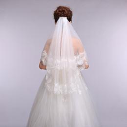 Wholesale Wedding Veil Decorations - 2016 Fashion Bridal Veils Lace Decoration Long 1.5M Married Bride Veils Wedding Accessories Free Shipping