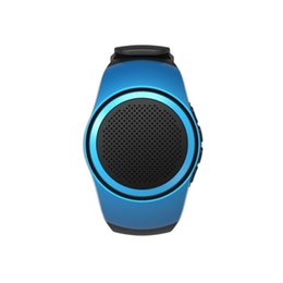 Wholesale Tf Card Boombox - Bluetooth Watch Speaker, B20 Bluetooth Sports Music Watch Portable Mini Watch Boombox TF Card FM Audio Radio Speakers Selfie Shutter