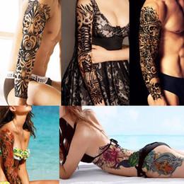 Tatuaje intermitente online-Manga de destello del agua Manga Tatuajes Temporal Maquillaje Tatuaje de la alheña Tatoos Artes del cuerpo