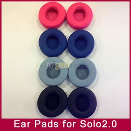 Wholesale Headphones Ear Pads - Replacement Ear Pads Foam earpads Cushions pillow cover for MP3 4 player Solo2 solo2.0 wireless headphone headset 6colors