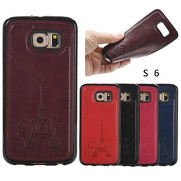 Wholesale Iphone Cheap Leather Case - New Cheap Price Soft TPU leather Tower Phone Case Cover for Samsung Galaxy S6 edge S7 edge iphone 5 6 plus