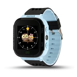 Wholesale children kids cute wrist watch - Wholesale- Cute Sport Q528 Kids GPS Tracker Watch Kids Smart Watch with Flash Light Touch Screen SOS Call Location Finder for Child