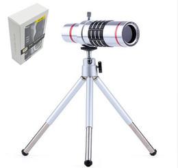 Evrensel Klip 18X Zoom Lens Teleskop Telefoto Kamera Telefonu Lensler Tripod Alüminyum Kabuk iPhone 7 7 Artı Samsung S8 S8Plus nereden samsung için zoom lens tedarikçiler