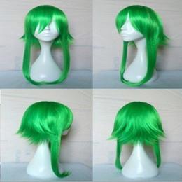 Anime pelucas vocaloid online-55cm Anime VOCALOID GUMI Camellia Megpoid Anti Alice Cosplay peluca verde resistente al calor peluca ePACKET envío gratis