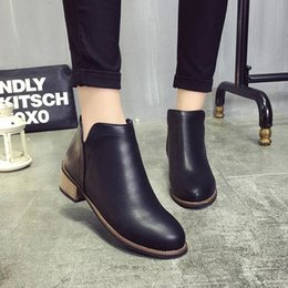 Wholesale Rough Leather Shoes - Leather boots for women Martin Europe ladies ankle boots woman shoes Matte rough with womens booties wholesale Autumn Boots