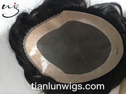Wholesale Mens Black Hair Wigs - free shipping mens hair piece swiss lace men toupees , cheap men's wigs for black men