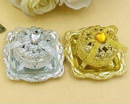 Wholesale plate candy box - Exquisite Gold-plated And Silver-plated Happiness Candies Box Creative Favor Boxes European Style Two Colors Are Optional