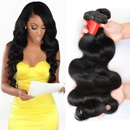 Wholesale Wholesale Black Natural Hair Products - 7A Unprocessed Brazilian Virgin Hair Body Wave Rosa Hair Products Human Hair Weave 4 Bundles Natural Black Brazilian Body Wave