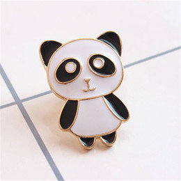 Wholesale Panda Pins - Wholesale- 2017 free shipping fashion women New Jewelry wholesale Simple and lovely panda pin Wholesale brooches Collares