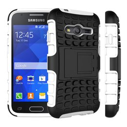 Wholesale Galaxy Young Cases - For Samsung Galaxy Ace 4 Case G357 Core Prime Grand prime Young 2 Heavy Duty Armor Kickstand Hybrid Hard Composite TPU ShockProof Cover