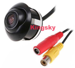 Wholesale Night Vision Mini Reverse Camera - Mini 360 Degree Rotation Universal Reversing Car Rear View HD Camera Wide Angle 5m RCA AV Cable Waterproof Night Vision Camera