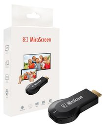 Wholesale Hdmi Sticks - Mirascreen 2.4G Wifi Display Dongle HD Media Player TV Stick Miracast DLNA Airplay Wireless Screen Mirroring Adapter Airmirroring Chromecast