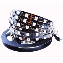 Wholesale Led Rgb Strip Addressable - WS2811 IC led strip 5050 SMD rgb strip addressable 30 48 60leds m led pixels strip external 1 ic control 3 leds
