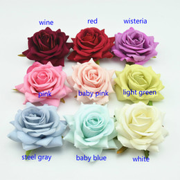 Wholesale Ball Chairs - 10cm rose heads -------white,red,wine,green,blue flower heads----to make wedding kissing ball,hair clips,door wreath,chair decoration