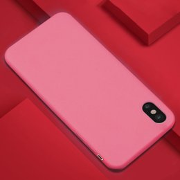 Wholesale iphone flexible case - Candy Color Matte Frosted Ultra Slim Flexible Silicone Rubber Shockproof Case Cover For iPhone X 8 7 Plus 6 6S Samsung Note 8 S8 S7 Edge