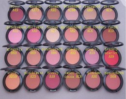 Wholesale English Blush - FREE SHIPPING 24 PCS Lowest NEW product Shimmer Blush 24 color No mirrors no brus 6g English Name