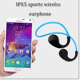 Wholesale Hot New Headphones - hot selling new design wireless waterproof portable stereo bass earphone sports in-ear headphone neckset for samsung iphone 7 7plus