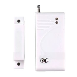 Wholesale Door Window Contacts 433mhz - New White Wireless Window Door Sensor Detector Entry Alarm Window Door Contact for Home Security Alarm System 433MHz