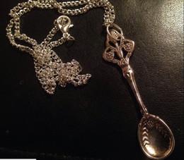 "Wholesale Alice 18 - Vintage Style Alice Inspired Mini Tea Spoon Snuff Allsorts Necklace 18"" Inch"