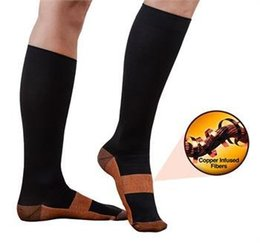 Wholesale Socks Factory Price - Factory Price Miracle Copper Anti-Fatigue Compression Socks Tired Achy Unisex Women Men Anti Fatigue Magic socks With Retail Package