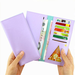 Wholesale Photo Ms - Ms. Long style wallet Card package Ultra-thin female wallet students wallet coin wallets Fashion and popular morden simple style wallet