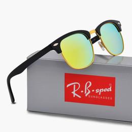 Gafas de sol reflectantes uv online-Nuevo diseñador de la marca Gafas de sol polarizadas Gafas reflectantes de protección contra los rayos ultravioletas del deporte Polaroid Diseñador de la moda Gafas de sol vintage con estuche y caja