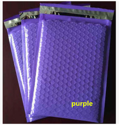 Wholesale Bubble Padded Mailers Wholesale - 18.5x23+4cm 50pcs Plastic poly bubble Mailer padded mailing bags  Purple color shockproof courier pouchs