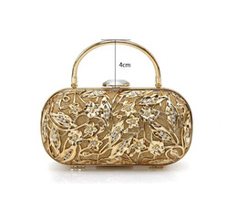 Wholesale Glam Alloy - Metal Mesh Glam Hard Case Clutch Bag Evening Prom Wedding Bag Wallet NWT Gold 142H34