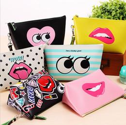 Wholesale Lip Purses - Lip shaped cosmetic bag 3d print cosmetic bag high quality wholesale travel makeup cases with zippers pouch purses