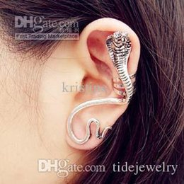 Wholesale Clip Snake Earring - Free shipping Europe and America new arrival retro snake clip earrings, 2016 woman fashion zircon wholesale price