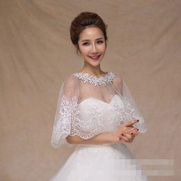 Wholesale Bridal Tulle Shawl - Gorgeous Bridal Lace Bolero Jacket Wedding Bolero Free Size Wedding Bolero Women Bolero Mariage See Through